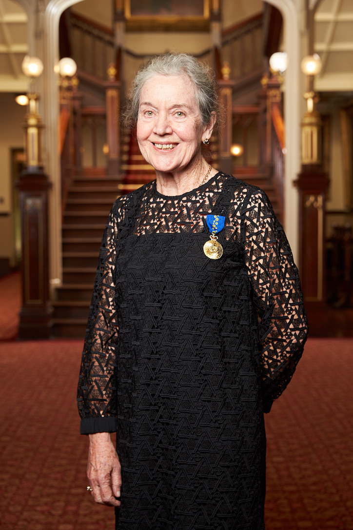 Caroline Bowen at the Order of Australia investiture ceremony, Government House, Sydney on May 4, 2018.